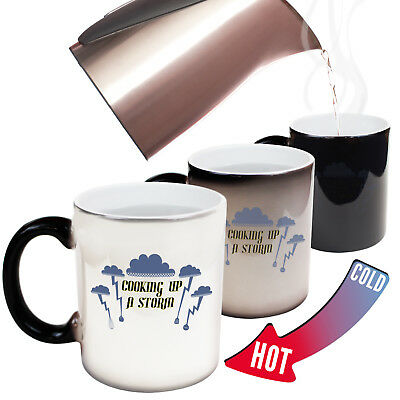 Funny Mugs Up A Storm Kitchen MAGIC NOVELTY MUG secret santa