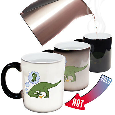 Funny Mugs - Dino Wish - Joke Coffee Tea Dinosaur MAGIC NOVELTY MUG