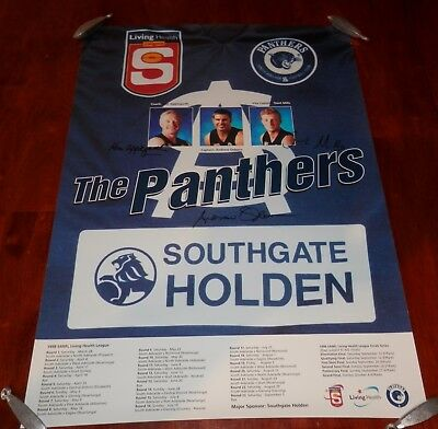 1998 South Adelaide SANFL  Poster with Printed Signatures