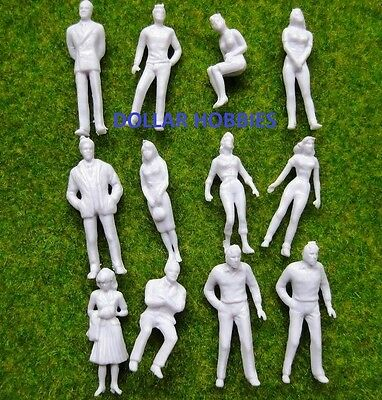 100 pcs 1:50 O Scale Figures Seated And Standing
