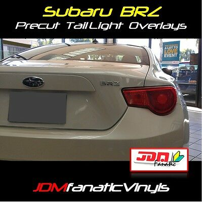 13-15 Scion FRS GT86 REDOUT Tail light Overlays Tint JDM Precut BRZ Wrap RED