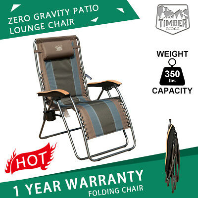 Excellent Oversized Xl Padded Zero Gravity Chair Folding Recliner Machost Co Dining Chair Design Ideas Machostcouk