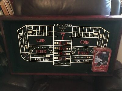 Las Vegas Casino Dice Game Board and New Poker Chips