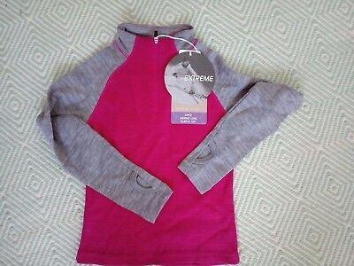 Girl Pink Ski Thermal Jumper Wool Merino size 6 New