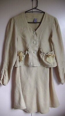 Out Of Exile Size 3 Made In England Mustard Yellow Skirt Suit