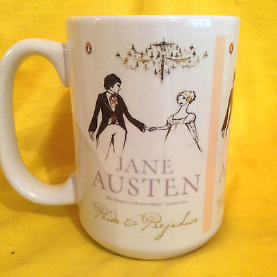 JANE AUSTEN 'PRIDE & PREJUDICE' BOOK COVER ON A BIG 15oz MUG