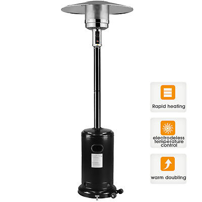 Garden Radiance Stainless Steel Black Outdoor Patio Heater