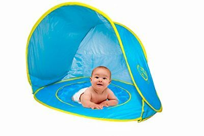 Pop Up Baby Beach Tent with Kiddie Pool UV Protection Tent Sun Shelter Play T...