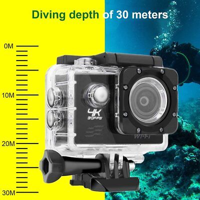 Wifi Outdoor Action Sport Camera Full HD 1080p 2.0 LCD 170 Degree 30M Car DVR AU