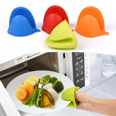 Silicone Pot Holder Oven Mini Mitt Set Cooking Pinch Grips Kitchen Heat Resist