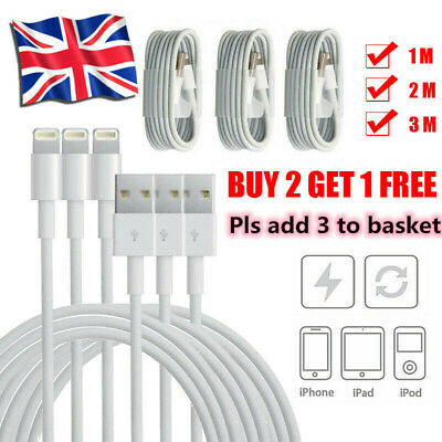 1M 2M 3M USB Data Cable Charger For iPhone 5 5S iPhone 6 7 8 iPod Fast Charging