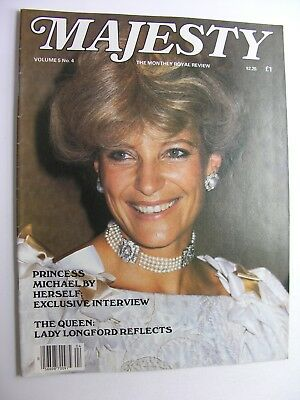 MAJESTY MAGAZINE Vol 5 No 4 Aug 1984 Queen Mother's Day Princess Michael of Kent