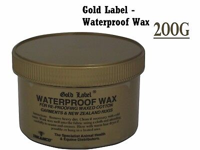 Gold Label Waterproof Wax, 200g  Re-proofing For All Waxed Cotton Garments