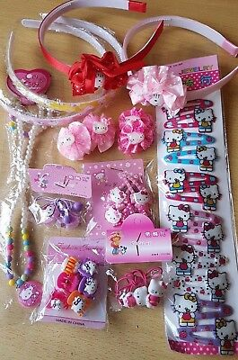 Hello Kitty bundle mixed girls jewellery hair accessories NEW STOCKING FILLERS