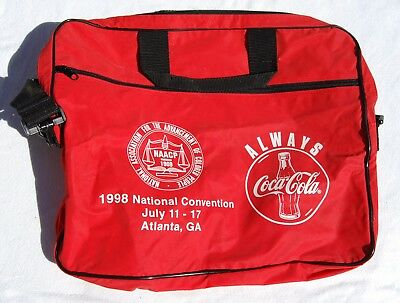 Vintage Coca Cola Red Nylon Duffel Bag - NAACP National Convention 1998 Atlanta