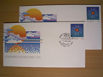 1983 PSE 063 SOLAR WORLD CONGRESS - 1 x Pic FDI Pmk BATHURST ST + 1 x MINT