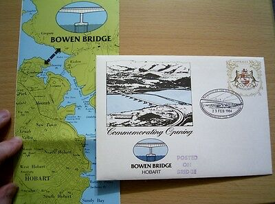 RARE 1984 Overprint  PSE075 OPENING BOWEN BRIDGE HOBART - POSTED ON BRIDGE +INFO