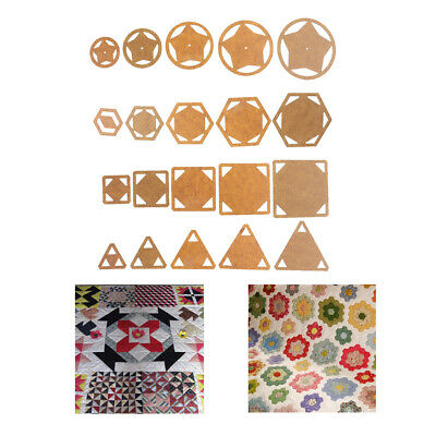5pcs Triangle/Hexagon/Square/Round Acrylic Quilt Templates Patchwork Quilters