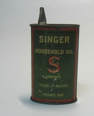 Antique Handy Oiler Singer Sewing Machine Oil Tin Can