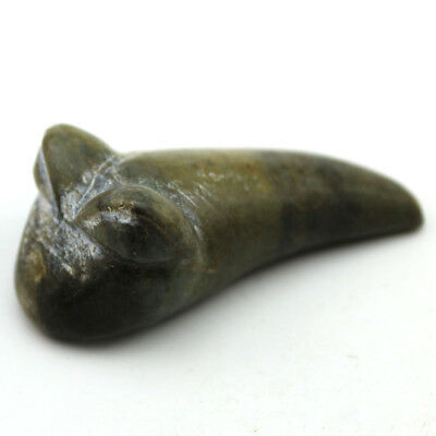 Y014 Ancient Chinese Hongshan Culture Old Jade Animal Amulet Pendant 2.5""