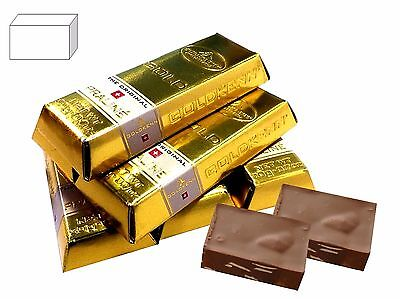 Mini Chocolate Gold Bars 5 x filled with 2 Nougat Pralines in Gold Bars