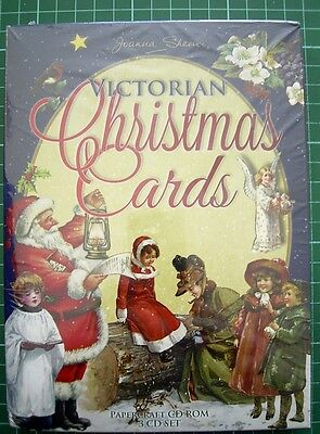 VICTORIAN CHRISTMAS CARDS 3 CD Set - Joanna Sheen - create 100's of great cards