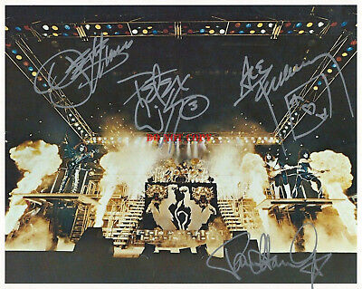 KISS BAND Signed 8x10 Autographed Photo Reprint