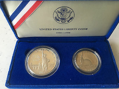 United States Liberty Coins Proof Set 1886-1986