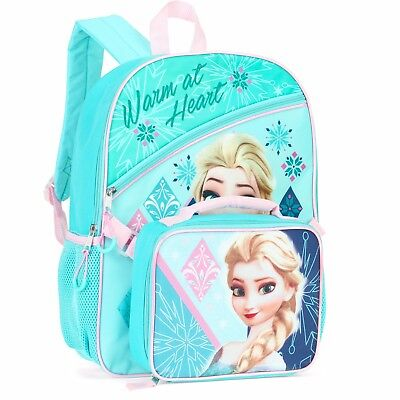 "Disney Frozen 'Elsa' 16"" Full Size School Backpack with Detachable Lunch Bag"