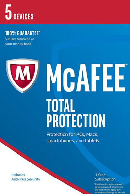 McAfee Total Protection 2018 5 PC / Geräte / 1 Jahr Vollversion
