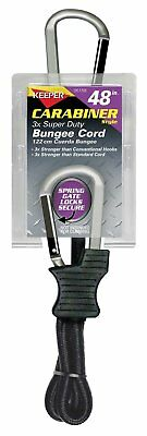 "Keeper 06158 48"" Super Duty Bungee Cord with Carabiner Hook"