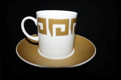 Wedgwood Susie Cooper Keystone Gold Coffee Can / Cup & Saucer Vgc