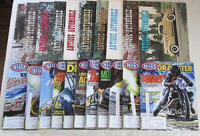 Lot of 21 Car Magazines NHRA National Dragster and Antique Automobile RARE OOP