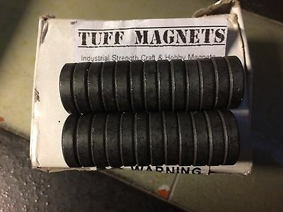 lot of 25 Tuff Magnets Industrial Strength Grade 8 north pole marked school