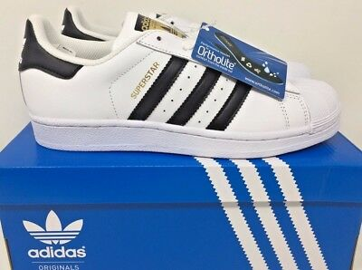 adidas Youth Originals Superstar J Juniors White/Black/Gold New In Box Size 5.5