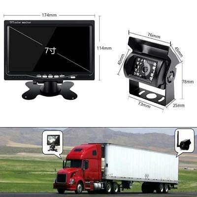 """Wireless Truck Rear View Back up Camera System w/ IR Night Vision+7"""" Car Monitor"""