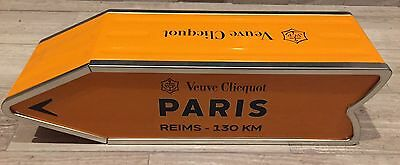 Veuve Clicquot Arrow Tin PARIS France Reims Champagne Journey Arrow Street Sign