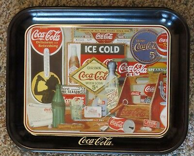 """Coke Tray """"Through The Years"""" 1990 New"""