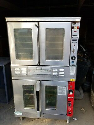 Hobart GAS COMMERCIAL FULL SIZE DOUBLE STACKED CONVECTION OVEN Hobart