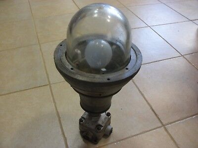 Crouse hinds vintage industrial light fixture explosion proof pendant