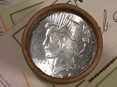 $20 SILVER DOLLAR ROLL 1926 & D-Mint PEACE DOLLAR ENDS