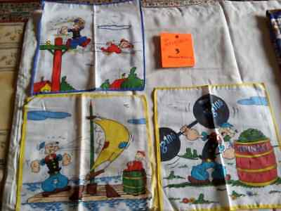 Vintage, cotton hankies POPEYE  from France
