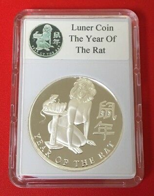"""Nude """"year Of The Rat"""" 1 Oz Silver Round"""