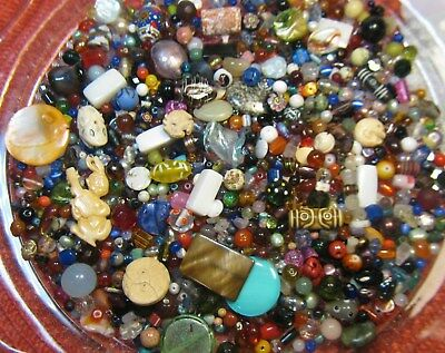 Lot Of Vintage Glass Beads~Estate Sale~1Lb. 5 Oz.~Assorted Shape,size,color~Nos