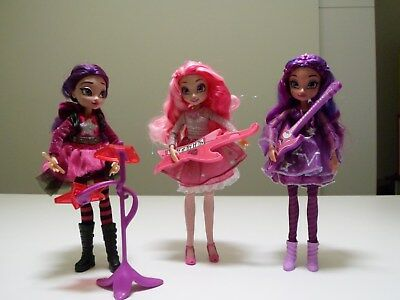 Disney Star Darlings * 3 dolls with instruments * Sage, Libby & Scarlet Starling