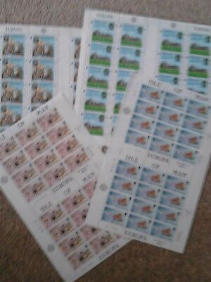 Sheets of mint (MNH) stamps from Isle of Man, Europa issues, please see pictures