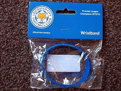 Leicester City, Wristband, Pl Champions 2015/16, Official, Blue, New In Packet.