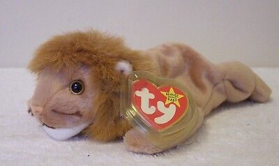 """Ty Beanie Babies Original Collection  """"roary"""" The Lion"""