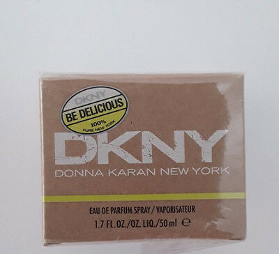 DKNY DONNA KARAN NEW YORK BE DELICIOUS Eau De Parfum Spray 50 ml for Women NEW!