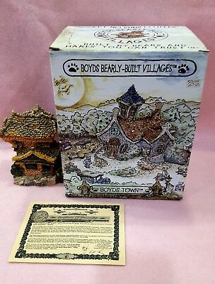 """Boyds Bears """" The Public Libeary"""" Bearly Built Villages Retired NIB"""